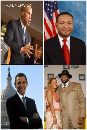 Mayor Corey Booker (Newark), Rep. Artur Davis (D-AL), Mayor Kwame Kilpatrick (Detroit), Senator Barack Obama (The Man Who Would Be POTUS)